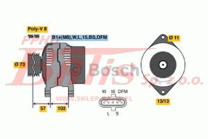 ALTERNATOR 28V 120A /VOLVO FH/ bosch