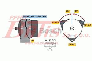 ALTERNATOR 28V 110A /MAN-TGA 2004-2006/ BOSCH